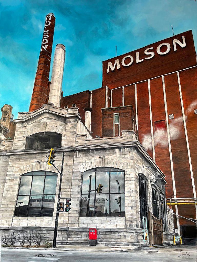 Molson #2, Huile sur toile Galerie Format 36x48pouces -VENDUE- Collection Groupe Sélection